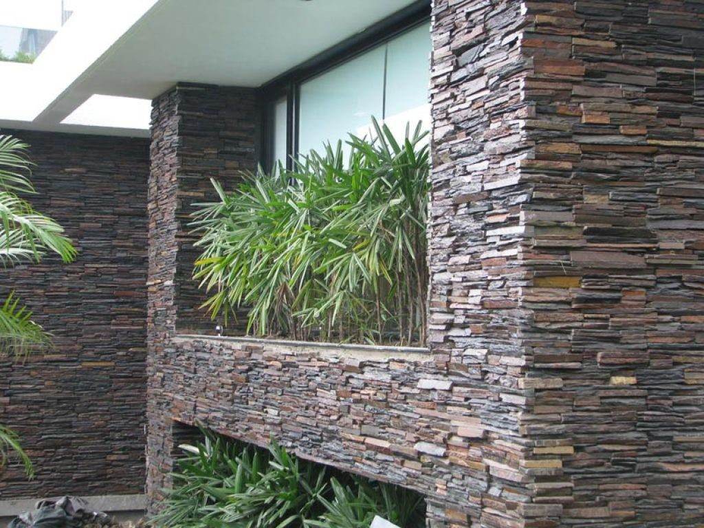 Front Elevation Stone Work : Exterior wall cladding for stunning house elevations happho