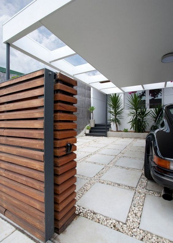 Ideas for car parking spaces in homes happho for Semi open spaces
