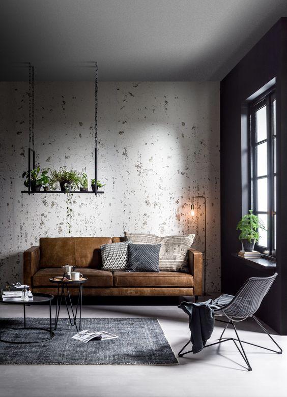 Industrial Style Living Room Design - Happho