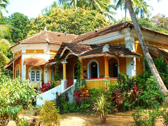 How to design beautiful goa houses happho for Piani casa bungalow cottage