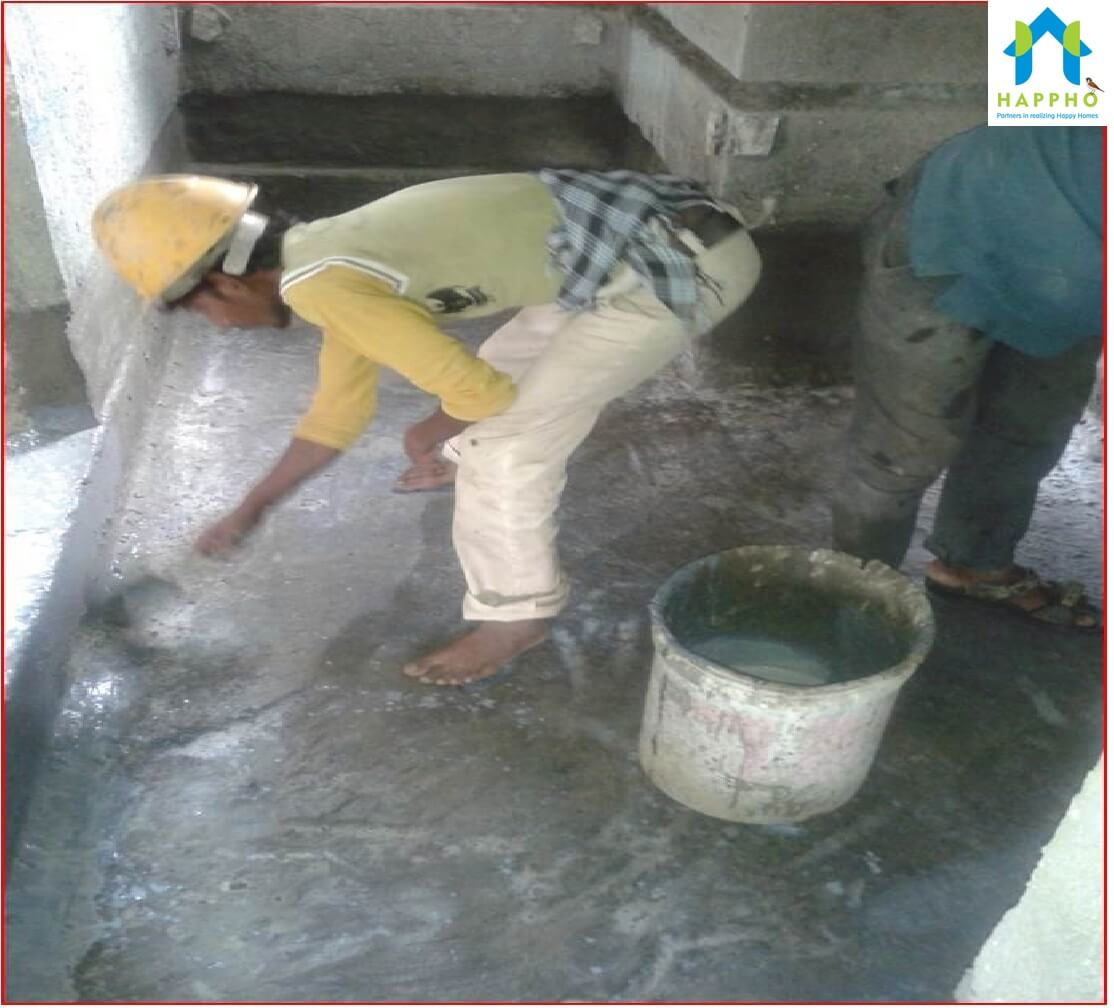 How to Properly do Waterproofing for Toilet and Utility areas - Happho