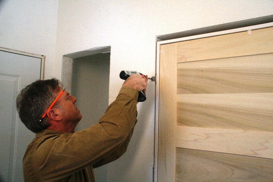 how to install a door frame door happho. Black Bedroom Furniture Sets. Home Design Ideas