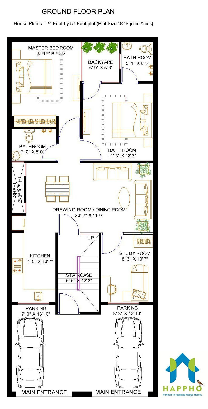 2-BHK Floor Plan for 24 X 57 Feet plot (1368 Square Feet) on kerala 3 bedroom house plans, villa house plans, contemporary house plans, 40 x 60 home plans, 40x50 metal building house plans, dreams house plans, 30 x 40 house plans, east facing house plans, feng shui house plans, art house plans, love house plans, construction house plans, 40x60 metal garage floor plans, exterior house plans, sq ft. house plans, blueprint construction plans, living off the grid house plans, small 3-bedroom duplex house plans, yoga house plans,