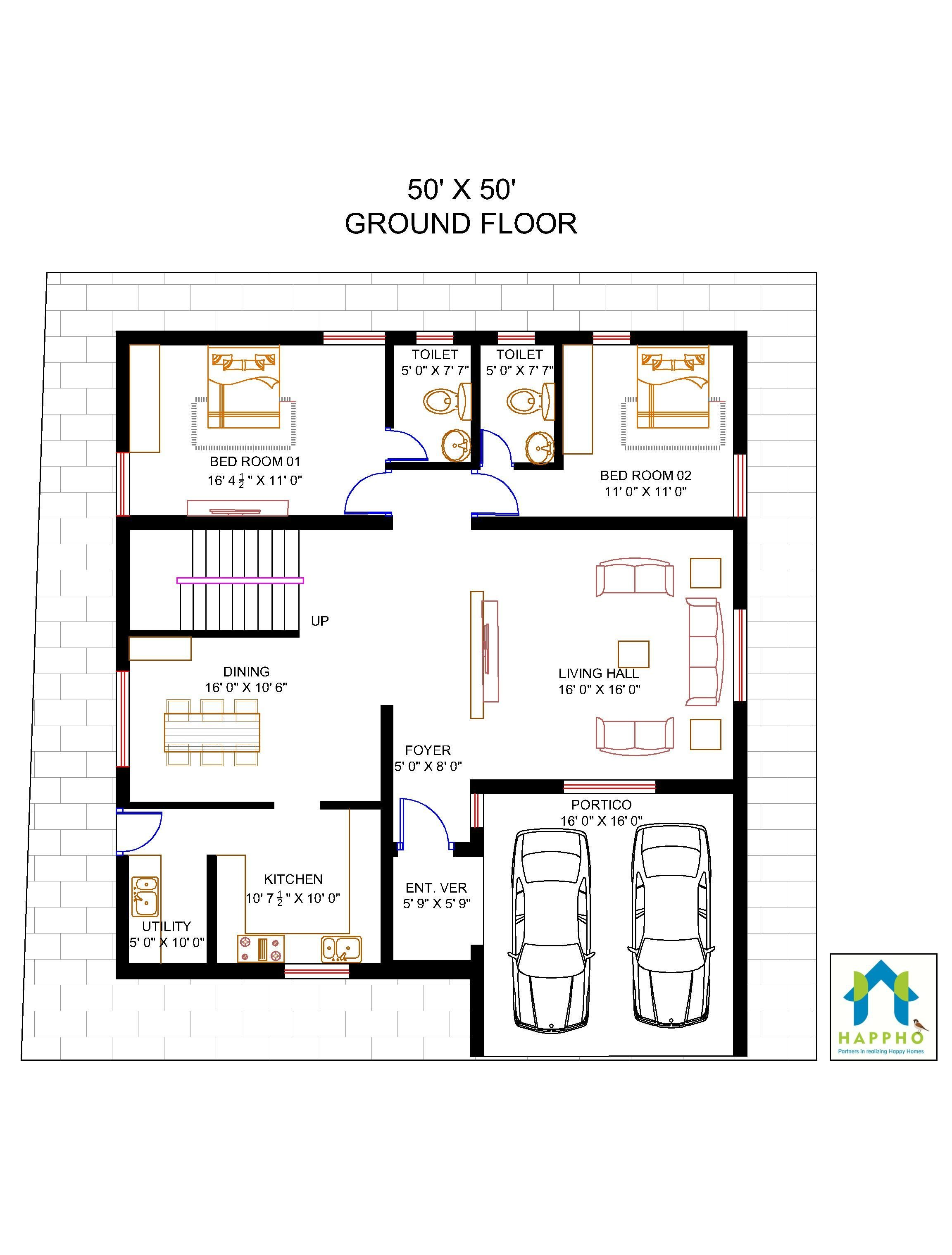 4 Bhk Bungalow Floor Plan Home For