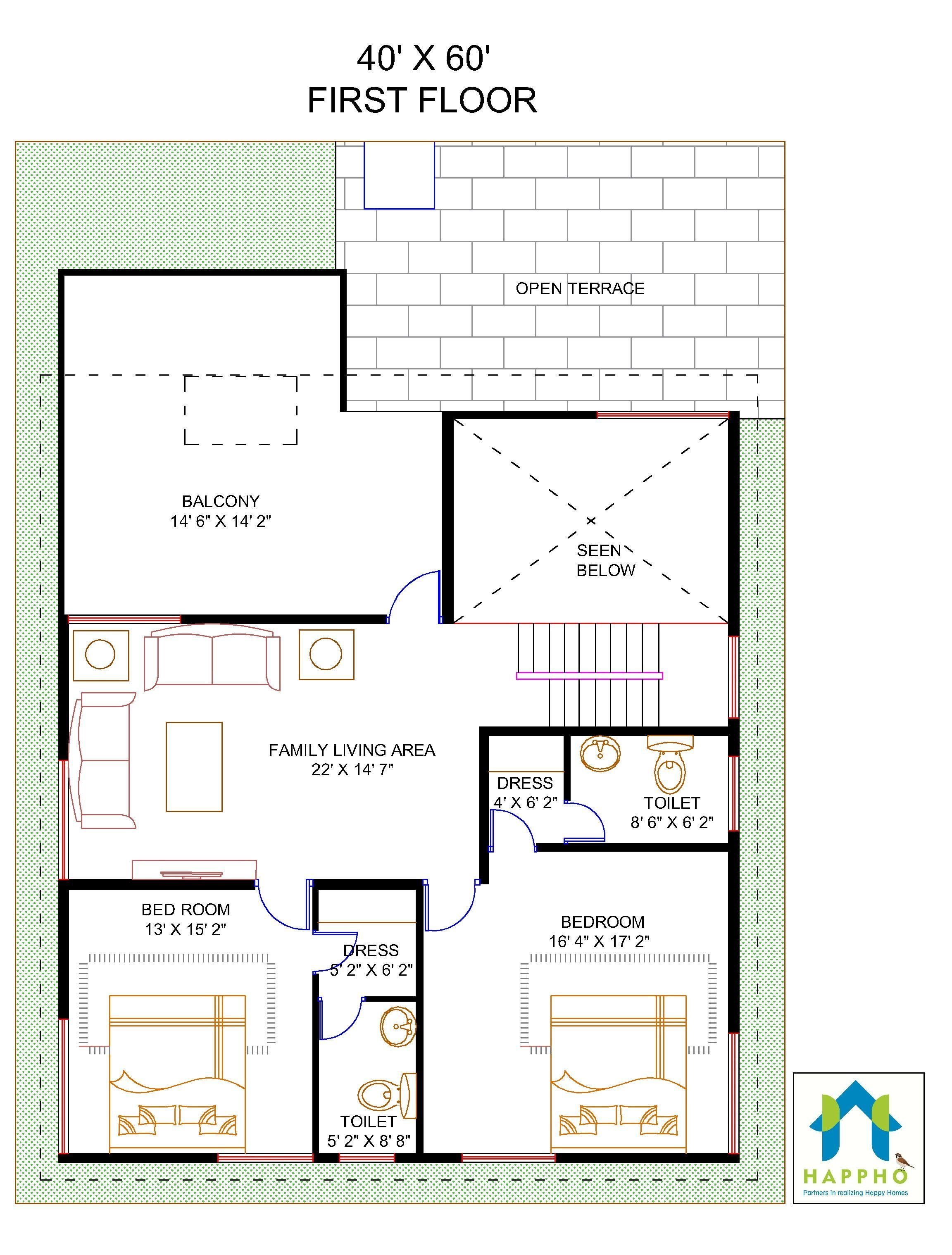 Floor Plan for 40 X 60 Feet Plot   4-BHK (2400 Square Feet ... on single level house plans, 2400 sq ft garden, 2400 sq foot home, family living house plans, craftsman ranch house plans, 1900 sq foot house plans, 24 foot house plans, 2400 sq ft home building designs, slab house plans, 4 bedroom house plans, square foundation house plans, 640 sq ft. house plans, southern house plans, 3 beds house plans, two story house plans, 2 beds house plans, vinyl siding house plans, range house plans, 2400 sf house plans,