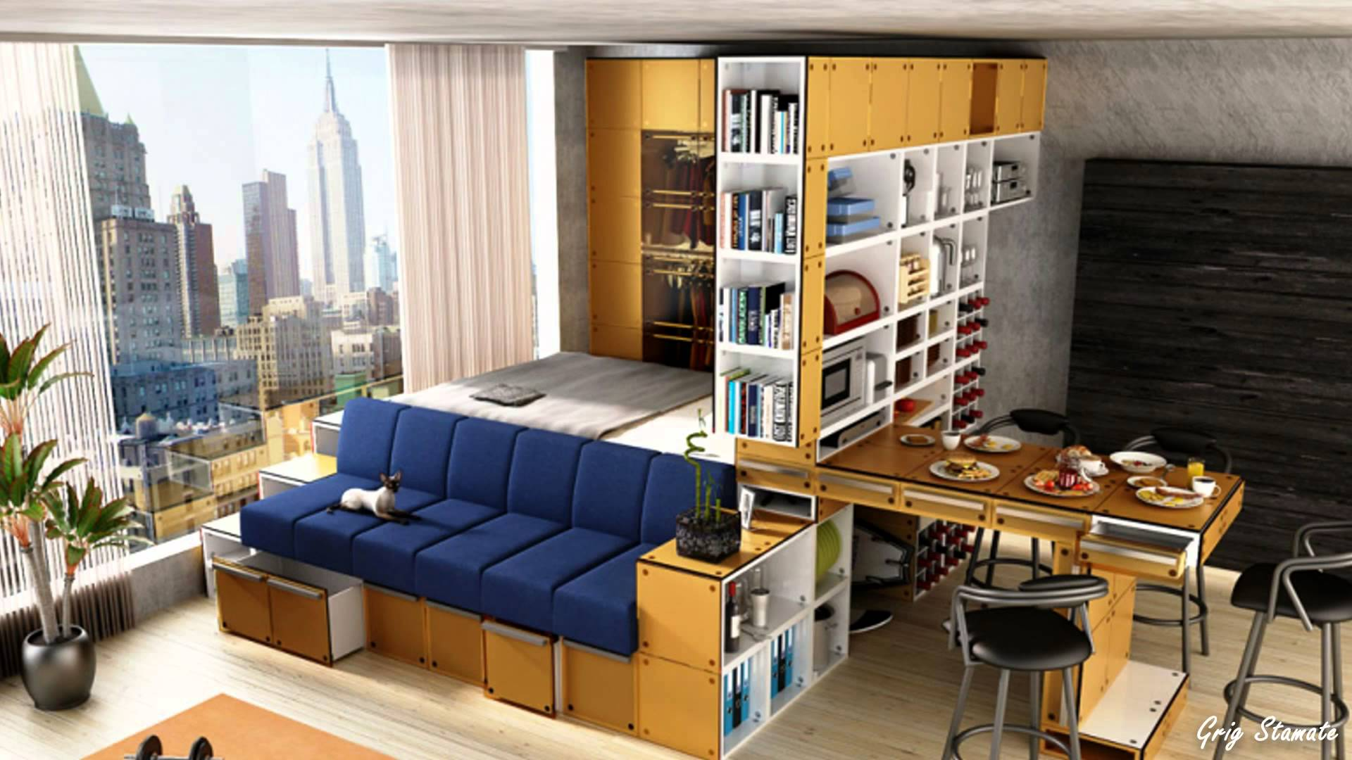 Storage E Dining And Sofa In Living Area