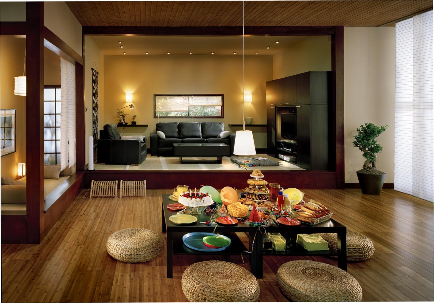 Zen decor interior japan home dining space