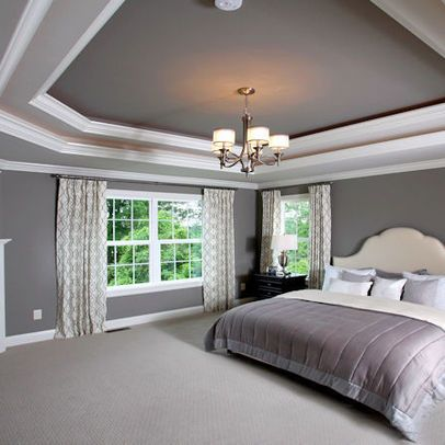 Tray ceiling ideas for home interiors happho - Ceiling paint color ideas ...