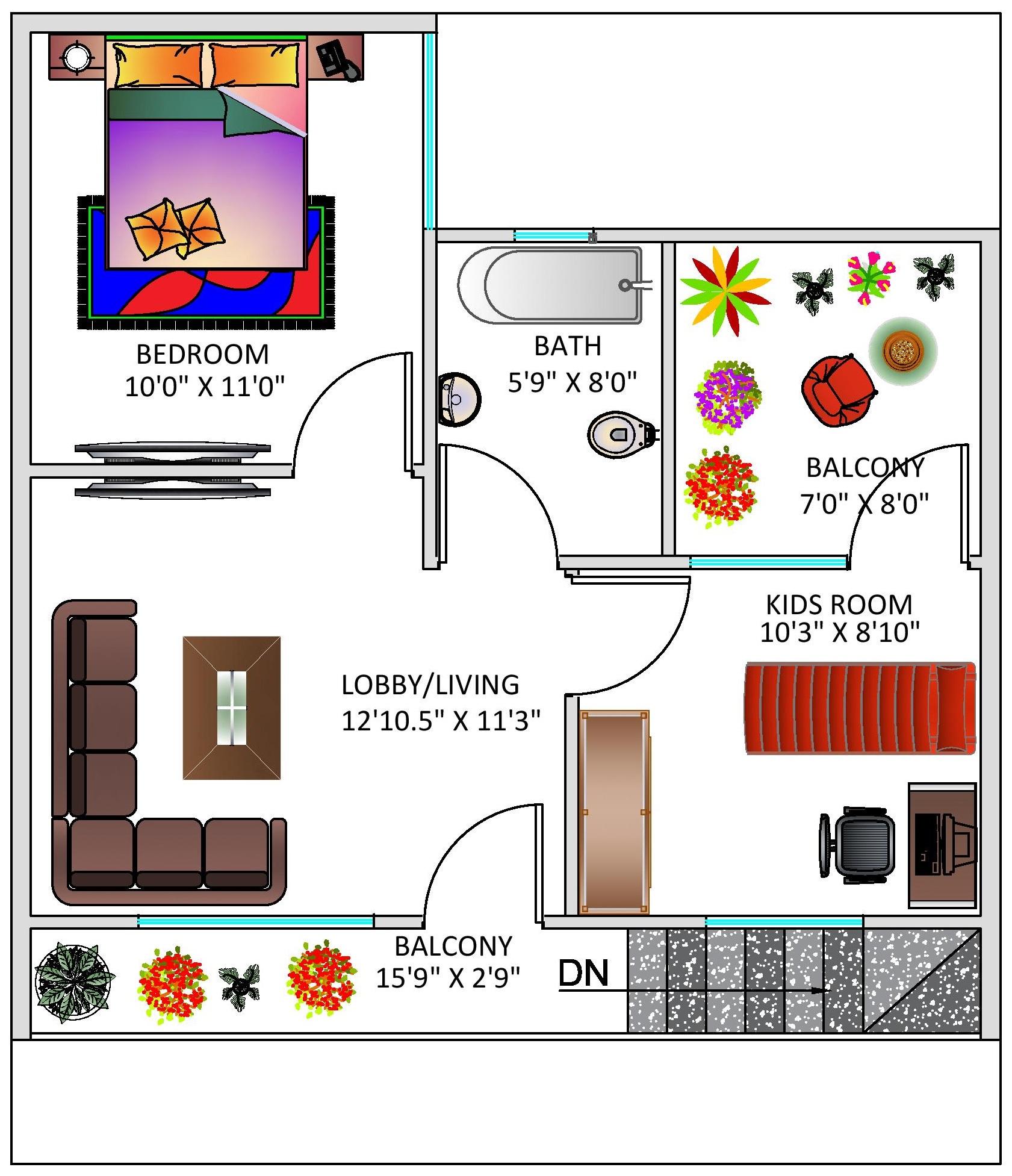 House Plan For 25 Feet By 30 Feet Plot Plot Size 83: Floor Plan For 25 X 30 Feet Plot