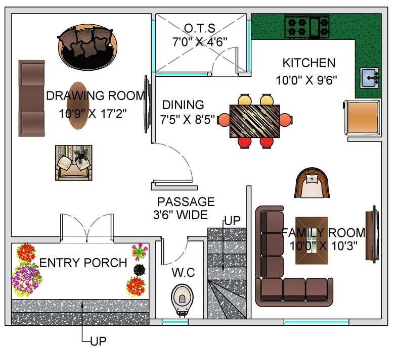 House Plan For 25 Feet By 30 Feet Plot Plot Size 83: Floor Plan For 30 X 25 Feet Plot