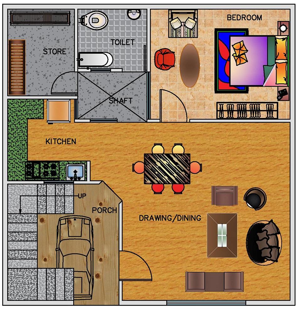 House Plan For 25 Feet By 30 Feet Plot Plot Size 83: Floor Plan For 30 X 30 Feet Plot