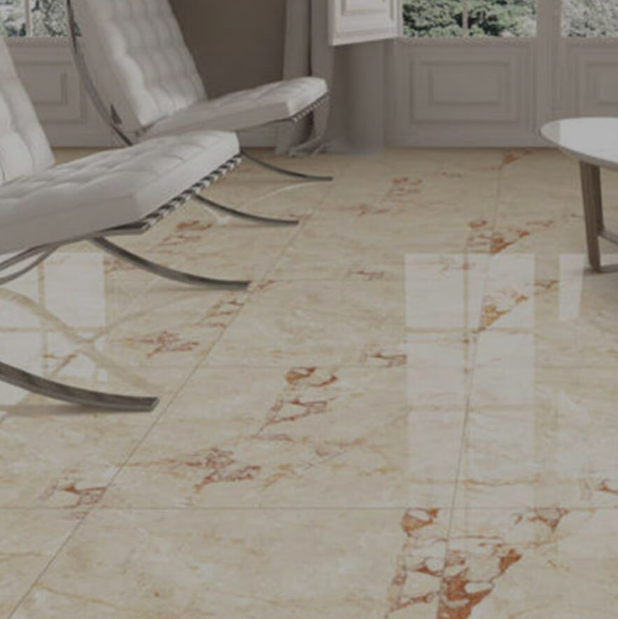Installed Vitrified Flooring Tiles in Living area