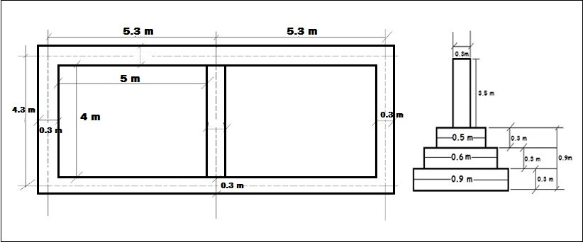 Drawing for Two Room Building