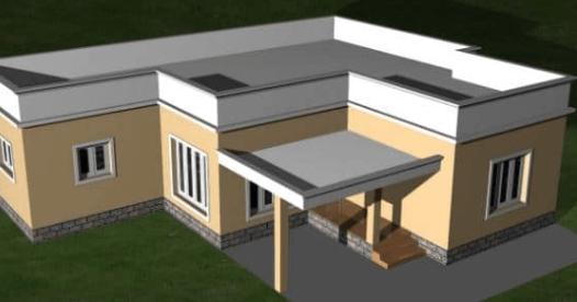 Flat or Plan Parapet Wall made in brick on terrace slab
