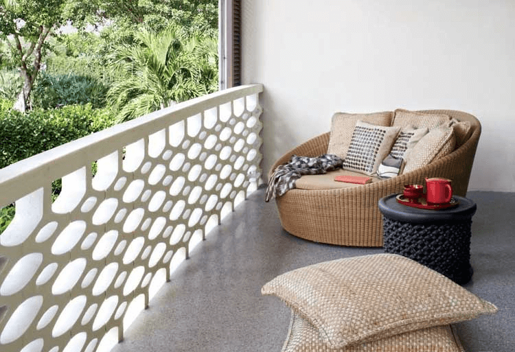 Perforated Parapet Wall installed in the balcony area