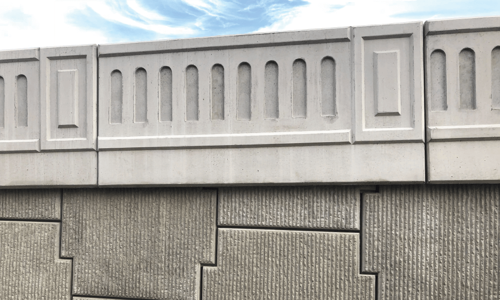 Readymade Panel parapet wall installed on terrace slab