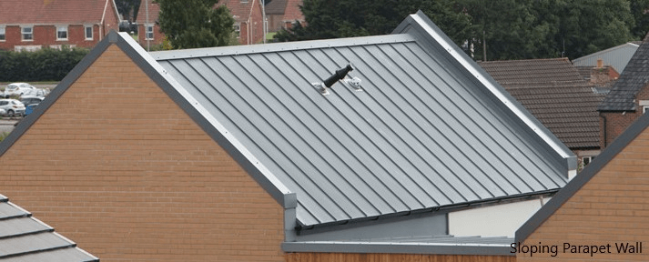 Sloped Parapet Wall on top of Roof