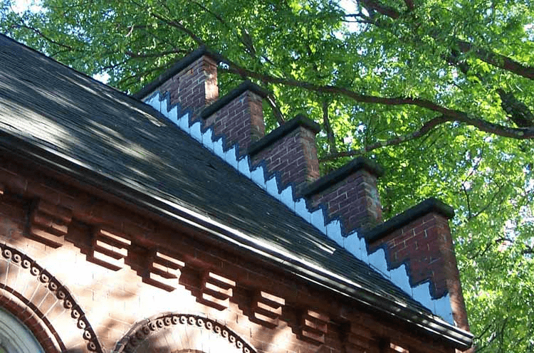 Stepped Parapet Wall on Sloped Roofs