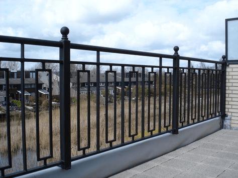 powder coated metal parapet wall